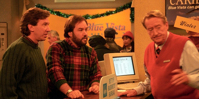 """Home Improvement"" stars Tim Allen and Richard Karn in ""Twas the Flight Before Christmas."" (Walt Disney Television via Getty Images Photo Archives/Walt Disney Television via Getty Images)"