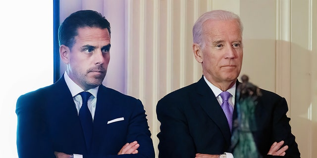 Hunter Biden introduces his father, former Vice President Joe Biden, during the World Food Program USA's 2016 McGovern-Dole Leadership Award Ceremony at the Organization of American States on April 12, 2016, in Washington, D.C. (Kris Connor/WireImage)