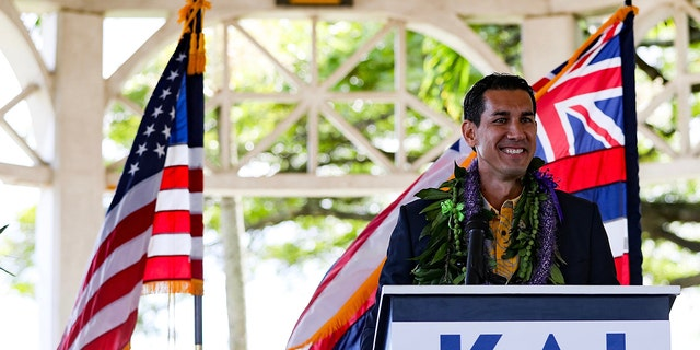 Rep. elect Kai Kahele, D-Hawaii, announces his primary challenge against Rep. Tulsi Gabbard, R-Hawaii, in January 2019. (Photo Courtesy of Kai Kahele for Congress).