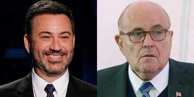 Jimmy Kimmel was among the many late-night hosts to mock Rudy Giuliani following news that he tested positive for COVID-19.