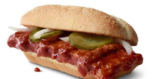 The McRib sandwich returns to McDonald's menus nationwide on Dec. 2.