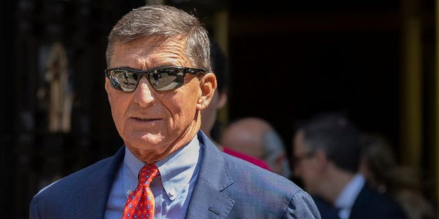 FILE - Michael Flynn, President Trump's former national security adviser, leaves federal court in Washington, Sept. 10, 2019. (AP Photo/Manuel Balce Ceneta, file)