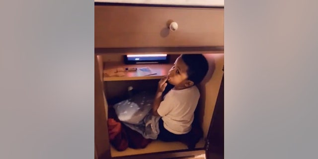 Little Noah was recently caught climbing into a basement cabinet, and his family was shocked to find that he created an oasis.