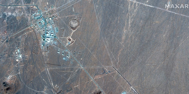 This Nov. 4, 2020, satellite photo by Maxar Technologies shows Iran's Fordo nuclear site. (Associated Press)