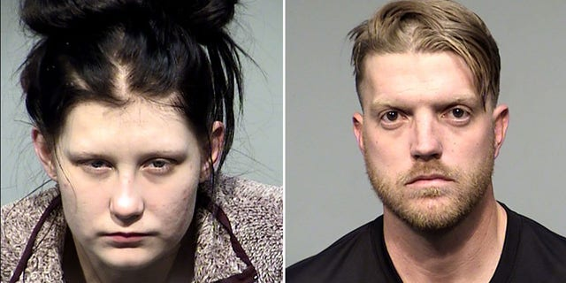 Olivia Jordan, 왼쪽, and Richard Carlson were arrested and charged with the sales of fentanyl pills and possession of drugs/narcotics.