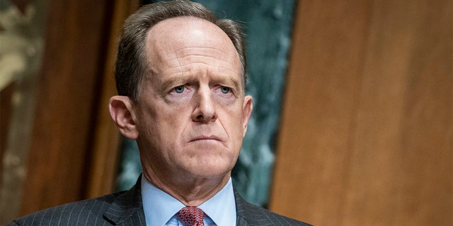 Sen. Pat Toomey, R-Pa., is seen on Capitol Hill in Washington, Dec. 10, 2020. (Associated Press)