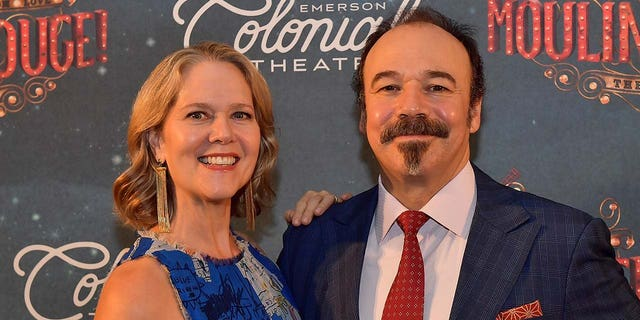 Rebecca Luker and her husband Danny Burstein. (Photo by Paul Marotta/Getty Images for Emerson Colonial Theatre)