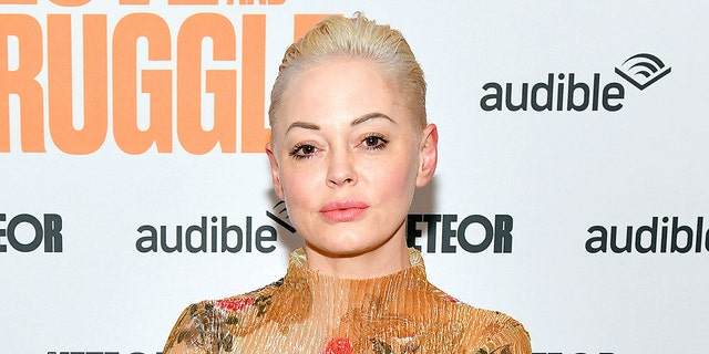 Rose McGowan took to Twitter on Monday to show solidarity with Evan Rachel Wood following her abuse allegations towards Marilyn Manson, allegations that Manson has denied and called 'horrible distortions of reality.' Both actresses were previously engaged to Manson. <br> (Photo by Craig Barritt/Getty Images for Audible)
