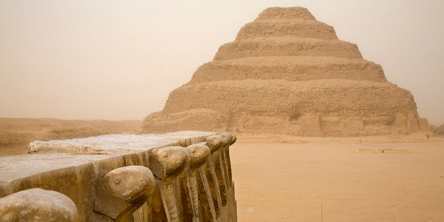 The photographer and model had staged the photoshoot on Monday at thesteppedPyramid of Djoser atSaqqara.