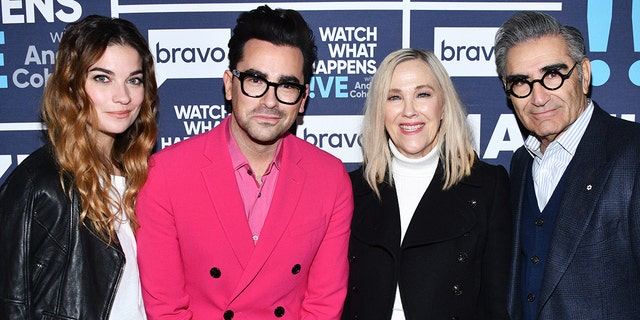"""Schitt's Creek"" cast left to right: Annie Murphy, Daniel Levy, Catherine O'Hara and Eugene Levy (Charles Sykes/Bravo/NBCU Photo Bank via Getty Images)"