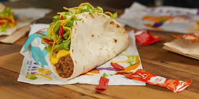 Taco Bell is bringing back the $1 Loaded Nacho Taco for a limited time starting on Christmas Eve. (Taco Bell)