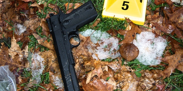 """Investigators said the toy was """"visually virtually indistinguishable from a real .45 Colt semiautomatic pistol."""" (Justice Department)"""