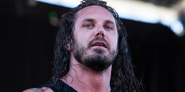 As I Lay Dying singer Tim Lambesis was hospitalized Wednesday after he burned 25% of his body while trying to set a bon fire. (Photo by Chelsea Lauren/Getty Images)