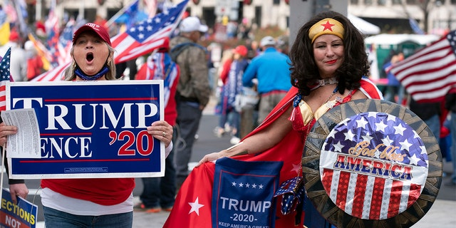 Supporters of US President Donald Trump demonstrate in Washington, DC, on Dec. 12, 2020, to protest the 2020 election. (Getty Images)
