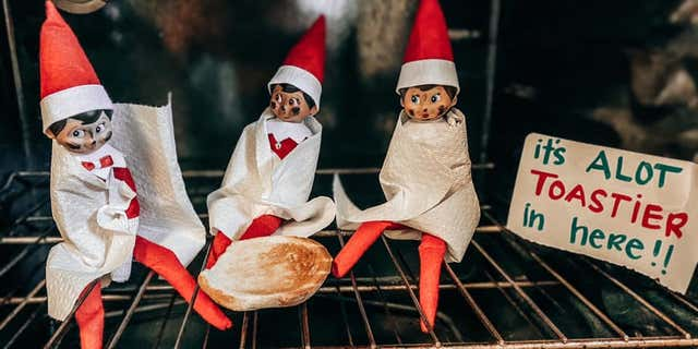The trio of elves were in for quite a surprise when Matt Hightower turned on the oven last week.