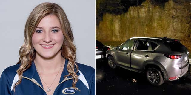 Caitlyn Marie Kaufman, 26, worked as an ICU nurse at a Nashville hospital. This image shows her SUV after she was shot on Dec. 3 along I-440. (Clarion University/Metro Nashville Police Department)