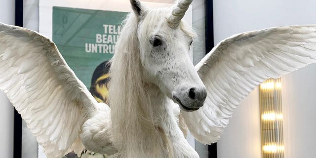 """""""We have never sold a giant unicorn before. The creature is a symbol of rarity and it's certainly a rarity for us,""""said auctioneer Jonathan Newey."""