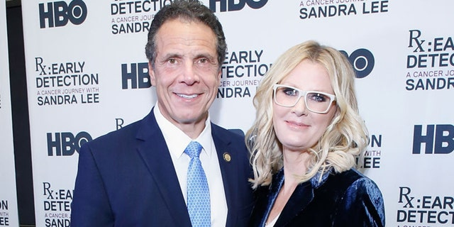 """New York Gov. Andrew Cuomo and Sandra Lee attend """"RX: Early Detection A Cancer Journey With Sandra Lee"""" New York screening at HBO Theater on Oct. 2, 2018 in New York City. (Getty Images)"""