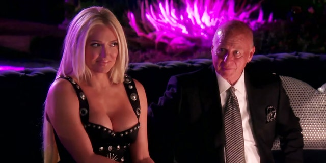 Erika (L) and Tom (R) during a scene from 'Real Housewives of Beverly Hills.'