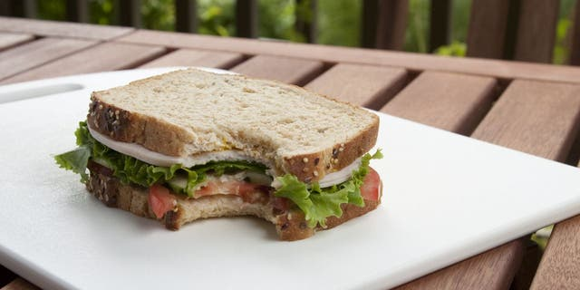 Whenever Tracy Howell's husband goes to work, he is welcomed to a sandwich that has a small bite on it, according to a viral Facebook post. (iStock)
