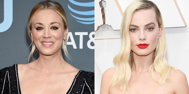 Kaley Cuoco, left, and Margot Robbie both portray comic book character, Harley Quinn, in different projects.