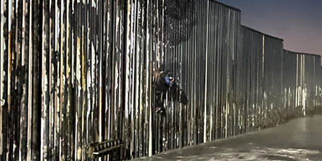 The agency said the 25-year-old Mexican national found hanging objects on part of the wall hanging to the Pacific Ocean.