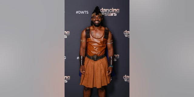 Keo Motsepe tydens 'Dancing with the Stars' Disney Night.