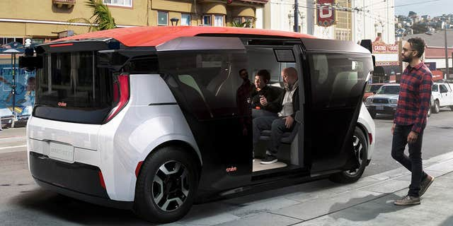 The Cruise Origin is a fully autonomous electric taxi GM plans to begin producing soon.