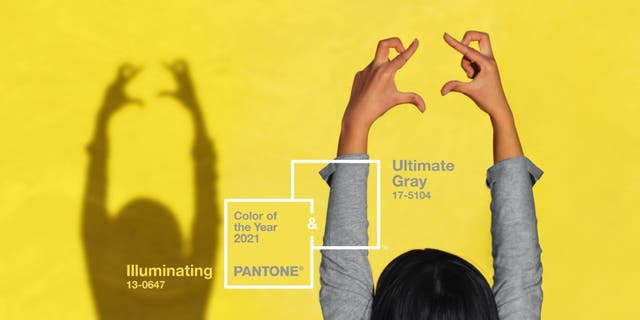 """Pantone's selected Color of the Year for 2021 is """"Ultimate Gray+Illuminating."""" (The Pantone Color Institute)"""