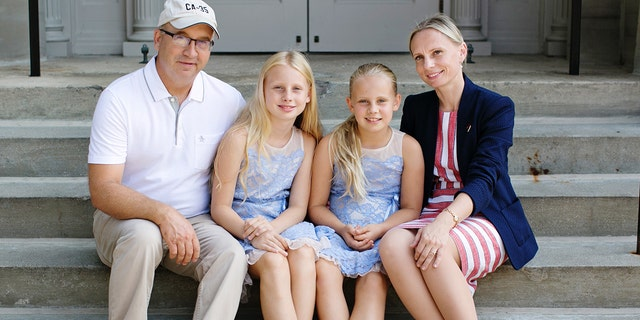 Rep.-elect Victoria Spartz, R-Ind., with her husband, Jason, and two daughters. (Courtesy Victoria Spartz for Congress)
