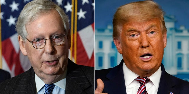 President Trump called out Senate Majority Leader Mitch McConnell by name Saturday as he accused Republicans of not fighting hard enough on his behalf.