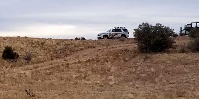 Authorities investigate the discovery of dozens of human body parts northwest of Prescott on Sunday. (Yavapai County Sheriff's Office via AP)