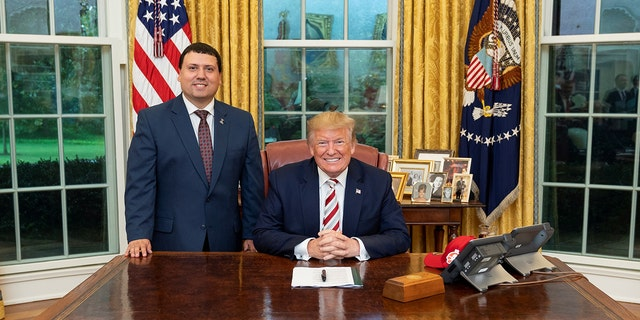 Xavier DeGroat, a Michigan student, is perhaps among the first known White House intern with autism. DeGroat is an advocate for people with autism and long before his internship he had a knack for getting meetings with famous people. (Official White House photo provided by DeGroat.)