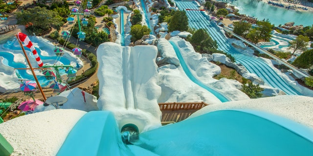 According to the most recent guidance posted to the theme park's Know Before You Go page, face masks will be required throughout Blizzard Beach except for when swimming or riding the water slides.