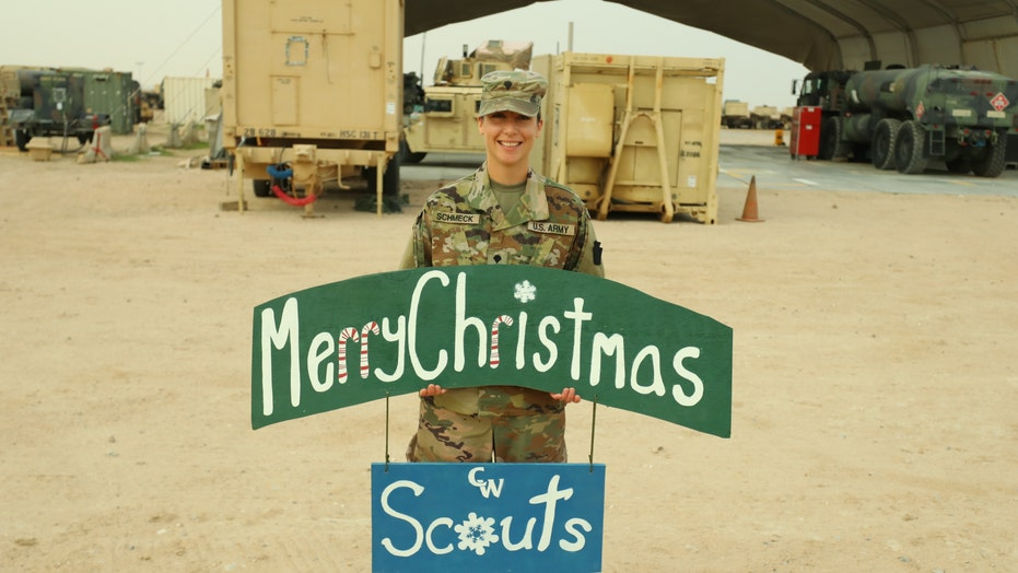 Pennsylvania teacher sends Merry Christmas message home to students while deployed with National Guard
