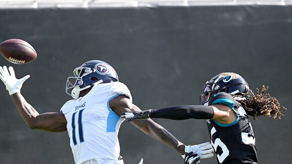 Titans' A.J. Brown makes incredible one-handed TD catch on flea-flicker