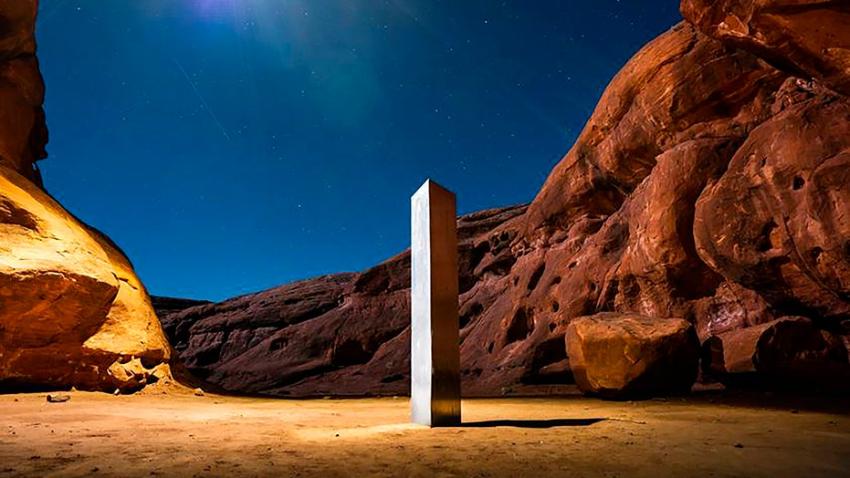 Strange Utah monolith taken by group who said, 'Leave no trace'