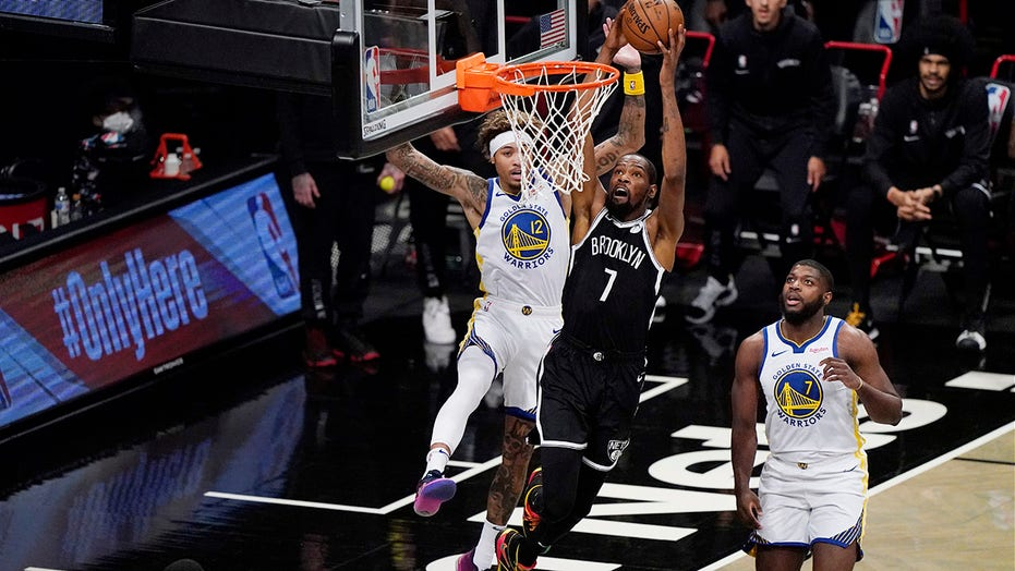 Durant returns with 22 and a 125-99 Nets rout of Warriors