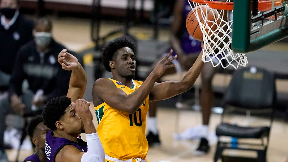 No. 2 Baylor wins delayed home opener 83-52 over SFA