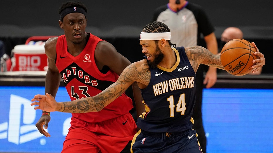 Pelicans beat relocated Raptors 113-99; Van Gundy wins debut