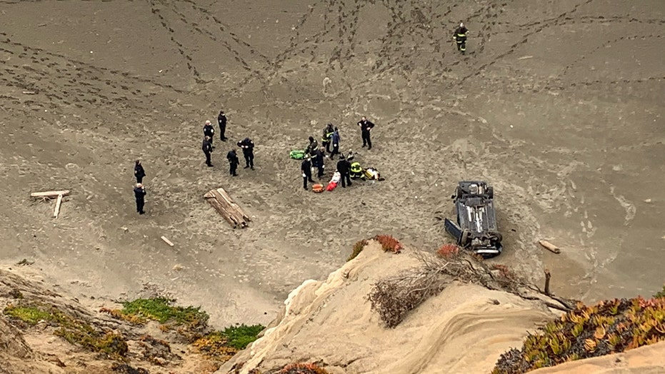 Vehicle plunges off San Francisco cliff, driver 'miraculously' survives: fire department