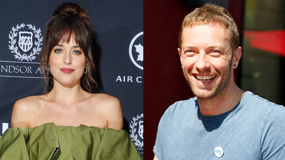 Dakota Johnson, Chris Martin spark engagement rumors after actress spotted with massive ring