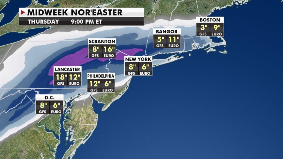 Potential 'blockbuster' nor'easter set to hit this week