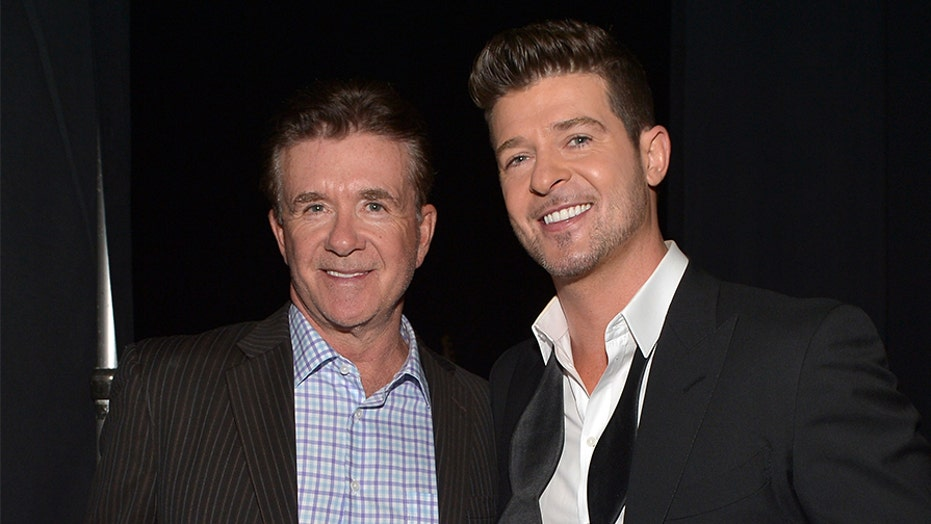 Robin Thicke writes emotional tribute to late father Alan Thicke after welcoming son