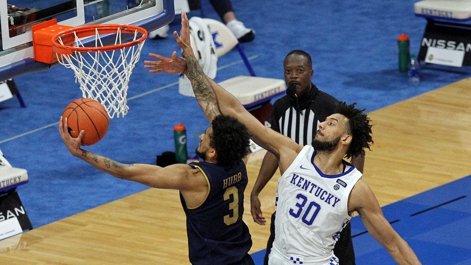 Laszewski, Irish hold on for first win at Kentucky, 64-63