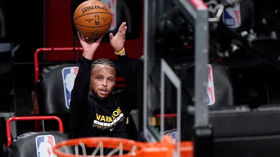 Steph Curry nails over 100 consecutive three-pointers in practice ahead of Warriors' game