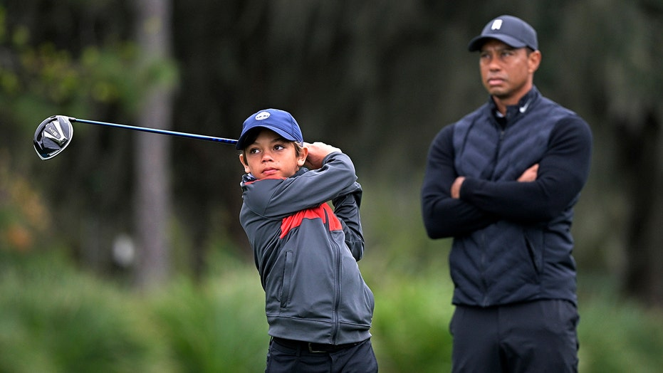 Tiger Woods relishes opportunity to play with son, Charlie, in weekend tournament