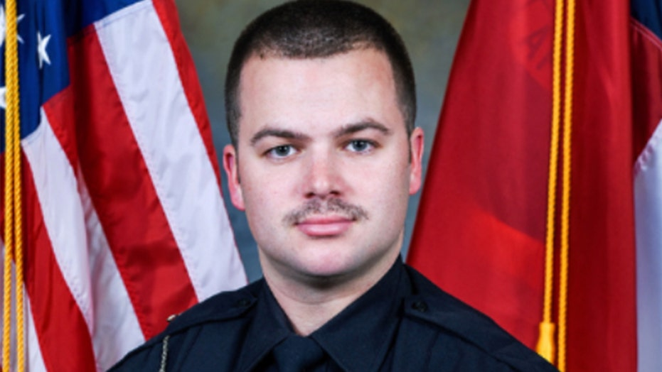 Small North Carolina town mourns its 1st police officer killed in line of duty