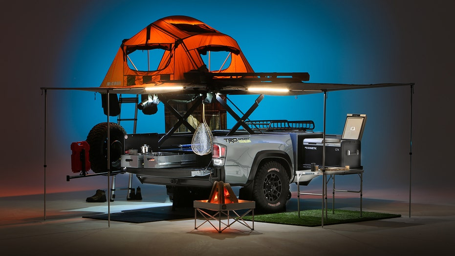 Toyota turned a pickup bed into a 1 bedroom, 1 bathroom travel trailer