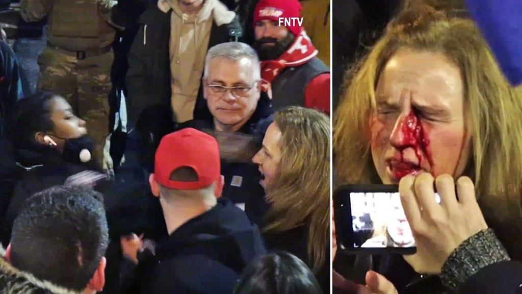 Pro-Trump mom punched at rally lost her job, fears she can't get re-hired